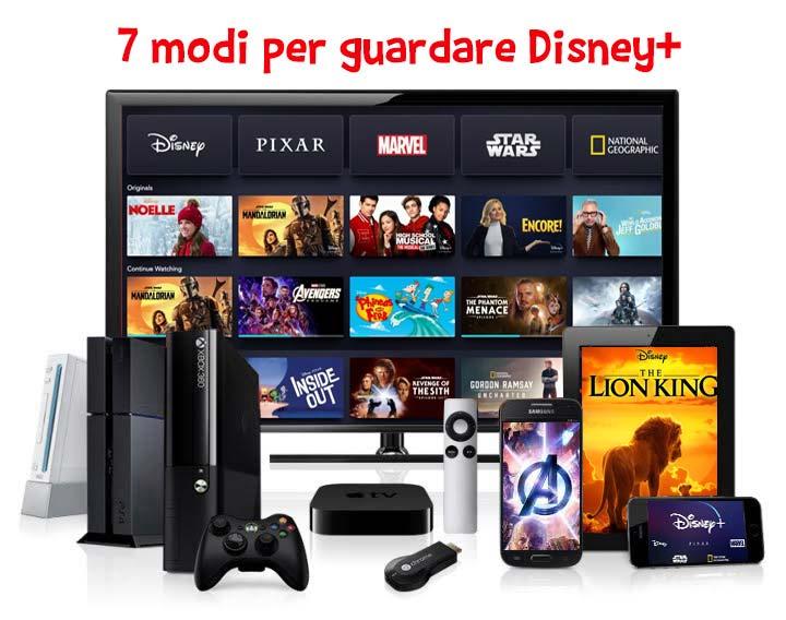 I dispositivi tramite i quali si può guardare Disney alla TV