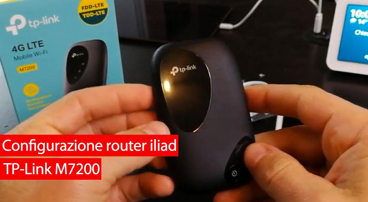Configurazione router iliad TP-Link M7200
