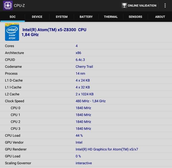 Dettagli SOC Intel del Chuwi Hi8 PRO