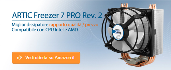 Dissipatore CPU Intele AMD Artic Freezer 7 PRO