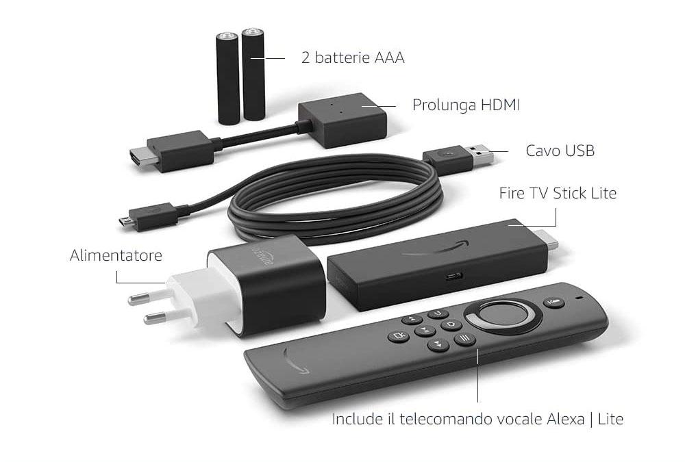Amazon Fire TV Lite confezione