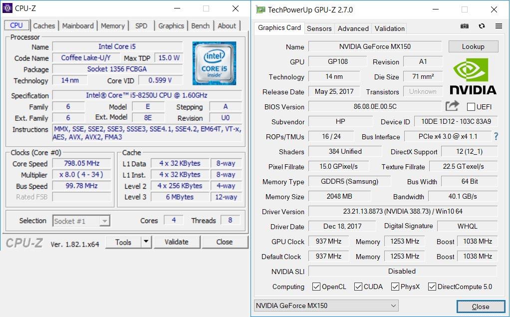 Hardware Envy 13-ad102nl