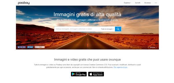 Pixabay: immagini gratis ad uso commerciale