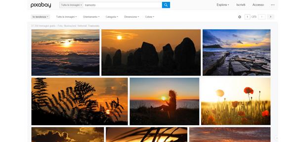 Pixabay ricerca