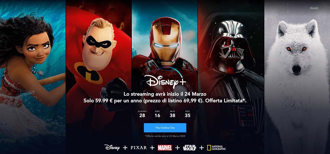 Disney+ in preordine