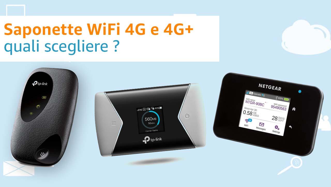 Saponette WiFi 4G e 4G+ quale scegliere?