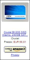 Offerta SSD Crucial BX200 240 GB