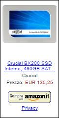 Offerta SSD Crucial BX200 480 GB