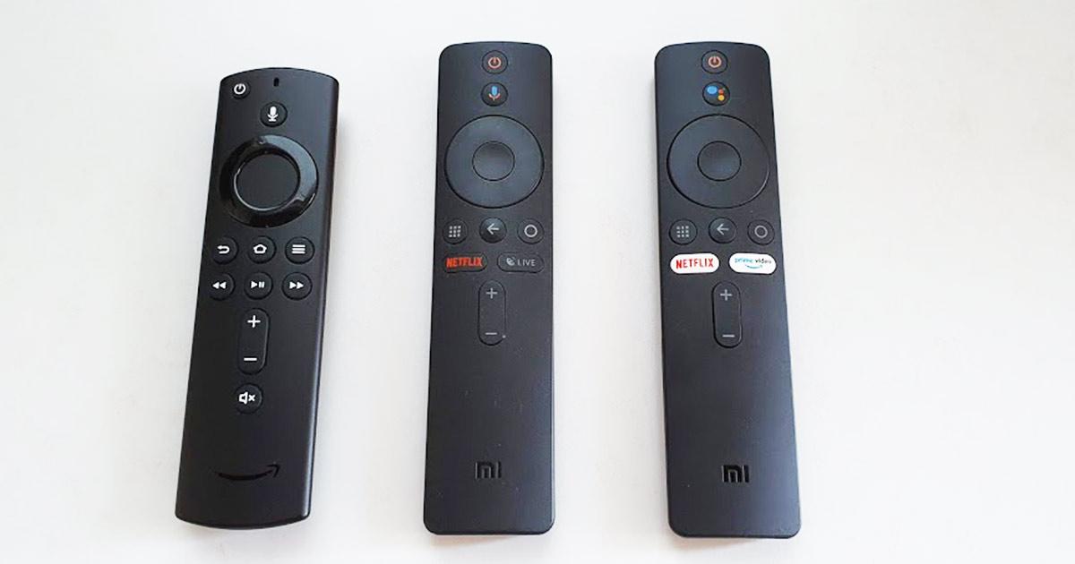Confronto telecomandi Amazon Fire TV e Xiaomi Mi TV Stick